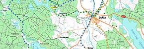 Mapa szlaków rowerowych gm. Łukta